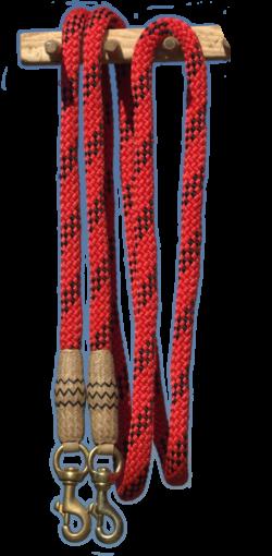 bosal-zuegel-rot-schwarz-rohhaut1980